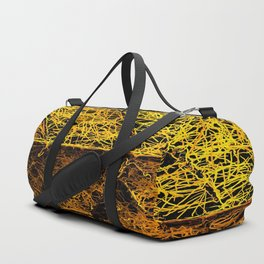 rotten yellow leaf texture Duffle Bag