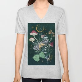 Mushroom night moth Unisex V-Neck