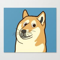 doge Canvas Prints featuring Doge by evannave