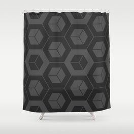 Hypecube Solid Shower Curtain