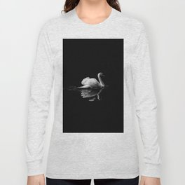 WHITE - SWAN - ON - BODY - OF - WATER Long Sleeve T-shirt