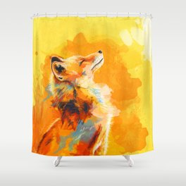 Blissful Light - Fox portrait Shower Curtain