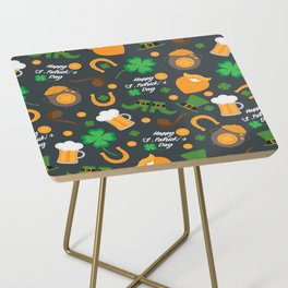 Saint Patrick's Day Pattern Side Table
