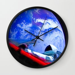 Tesla's Starman Wall Clock