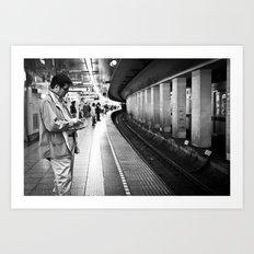 Man at Tsukiji Station  Art Print