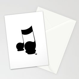 Melting musical moment Stationery Cards