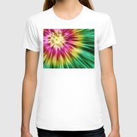 tie dye T-shirts featuring Abstract Green Tie Dye by Phil Perkins
