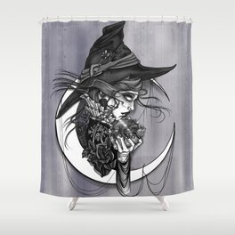 Visions of the witch Shower Curtain