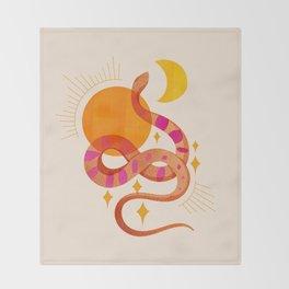 Abstraction_SUN_MOON_SNAKE_Minimalism_001 Throw Blanket