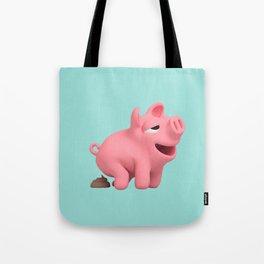Rosa the Pig takes a poop Tote Bag