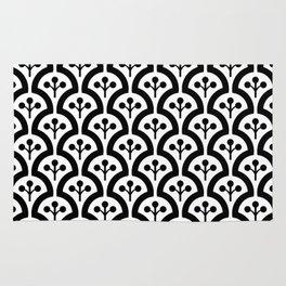 Atomic Mushroom Black & White 3 Rug