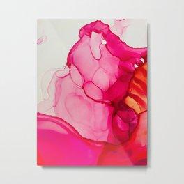 Flower Melt Metal Print