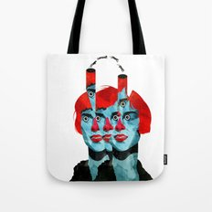 The cats in my head Tote Bag