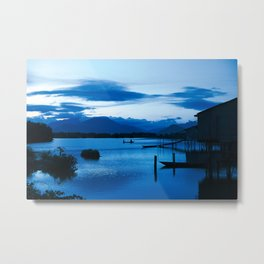 BLUE VIETNAMESE MEDITATION Metal Print