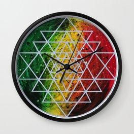 Rasta Planet with Sri Yantra Wall Clock