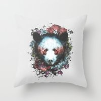 warrior Throw Pillows featuring Warrior by Tracie Andrews