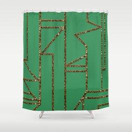 Ladders B (green) Shower Curtain