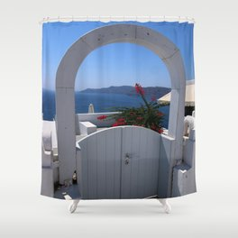 Oia Gated View Shower Curtain