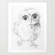 Sweet Little Owl Art Print