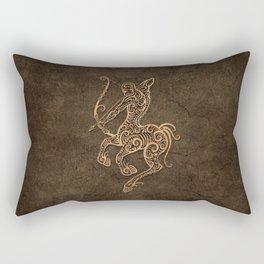 Vintage Rustic Sagittarius Zodiac Sign Rectangular Pillow