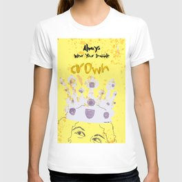 Always Wear Your Invisible Crown: Medieval Yellow T-shirt