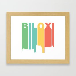 Retro 1970's Style Biloxi Mississippi Skyline Framed Art Print