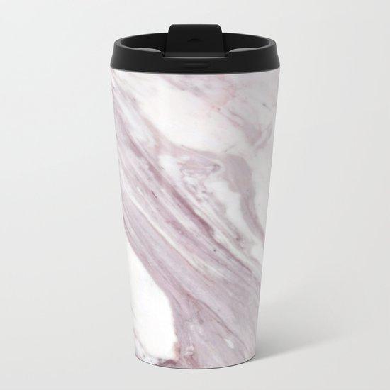 Swirl Marble Metal Travel Mug