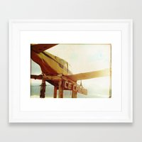 ice cream Framed Art Prints featuring ice cream by Tina Crespo