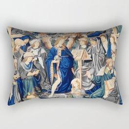Blue Triumph of Fame Rectangular Pillow