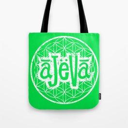 Ajeva Logo Green Tote Bag