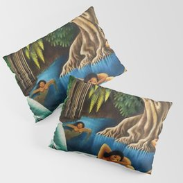 Bathing in the River by Miguel Covarrubias Pillow Sham
