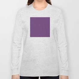 Purple Eggplant Tres Petit Geometric Pattern Long Sleeve T-shirt