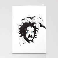 einstein Stationery Cards featuring Einstein by KaytiDesigns