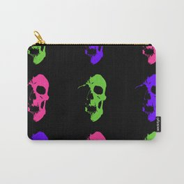 Skull 3x3 - Lime/Purple/Pink Carry-All Pouch
