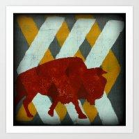buffalo Art Prints featuring Buffalo by Wood Grian & Grits