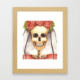 Watercolor Catrina Framed Art Print