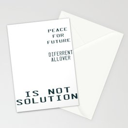 This is the awesome revolutionary Tshirt Those who make peaceful Revolution Peace for Future Stationery Cards