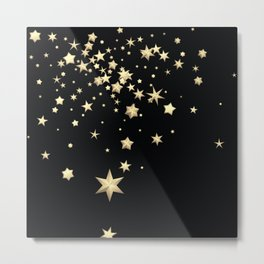 Golden Stars 3 Metal Print