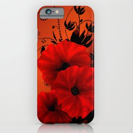 Poppy flowers, sunset iPhone Case