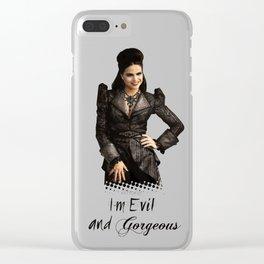 I´m evil but gorgeus Clear iPhone Case