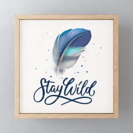 Feathers and Stay Wild Framed Mini Art Print