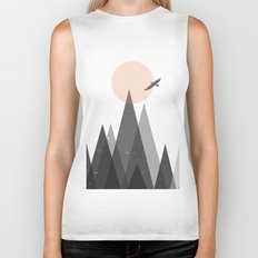 Eagle and mountains Biker Tank