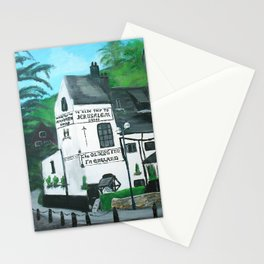 The Oldest Inn In England Acrylic Fine Art Stationery Cards