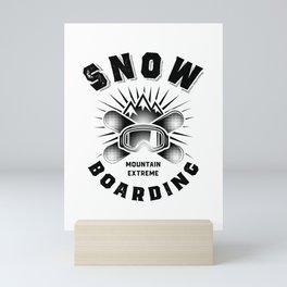 Snowboarding Art To The People Snowboard Gift Mini Art Print