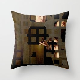 The Decomposed Composer Liszt Throw Pillow