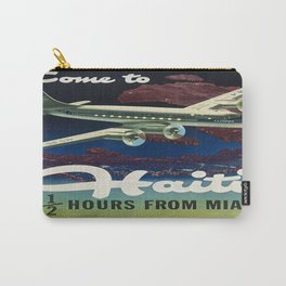 Vintage poster - Haiti Carry-All Pouch