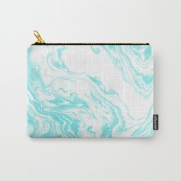 Mizuki - spilled ink abstract ocean swirl marbled paper marbling marble cell phone case Carry-All Pouch