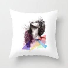 Crystalised // Fashion Illustration  Throw Pillow