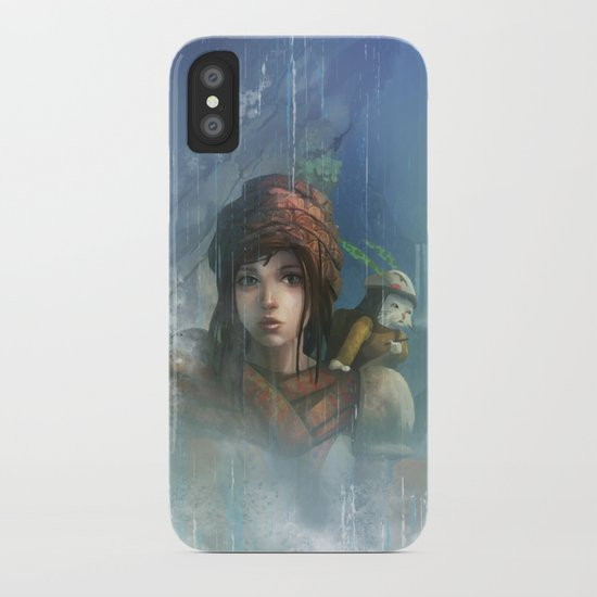 girl in the abyss  iPhone Case