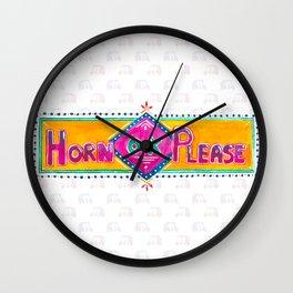 Horn OK Please Wall Clock